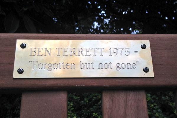 Finally got my memorial bench. History here http://t.co/B6FeIv7tlF cc @asburyandasbury @reedwords http://t.co/Y2DBADJjSK