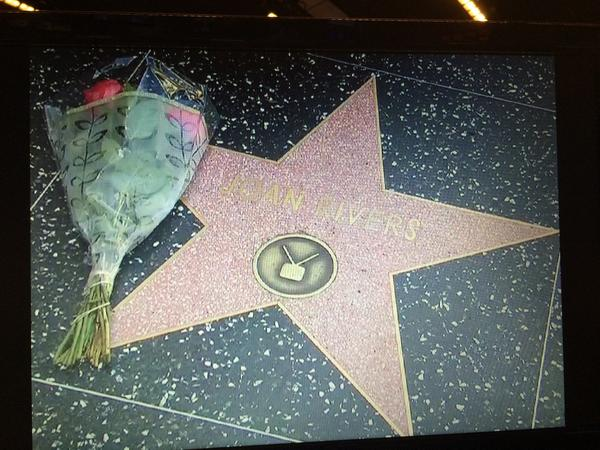 .@Joan_Rivers' star on the Hollywood Walk of Fame. #RIPJoanRivers http://t.co/MJw3M5y3x7
