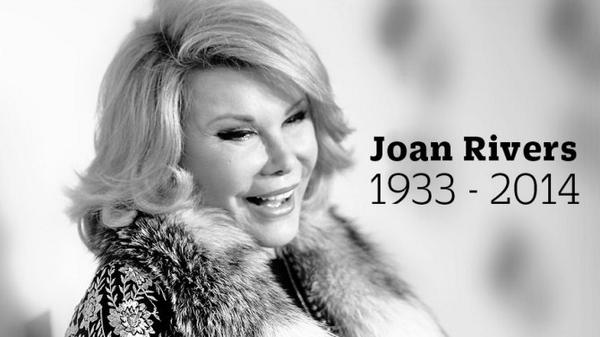 RIP Joan Rivers; Legendary Comedian Dies After Being Taken Off Life Support http://t.co/OmgOUNjlO8 via @variety http://t.co/EjzQq8kl5V