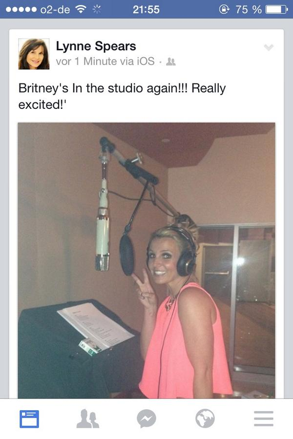 OMG, Britney is recording! It's official!