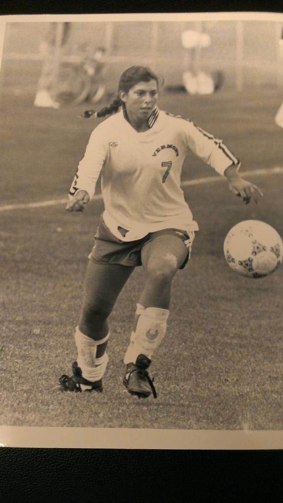 tbt to 1991 and Nicole Colaneri in action for  uvmwsoccer! Vintage  Cannon  soccer jersey and  Uhlsport shin guards.pic.twitter.com fTqw5G0RZO e4ff558a9