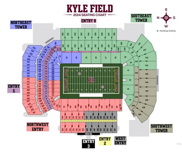 Texas A M Football On Twitter Countdown To Kickoff Seating Chart Know Where To Enter Kylefield This Weekend Http T Co C2afkznotp 12thman Http T Co 7tyddcn4k9