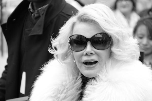 Today we lost a legend. The hardest working, ballsiest broad in the game. We love you Joan! #icon #legend #nyc #loved http://t.co/12UvWO5yl5