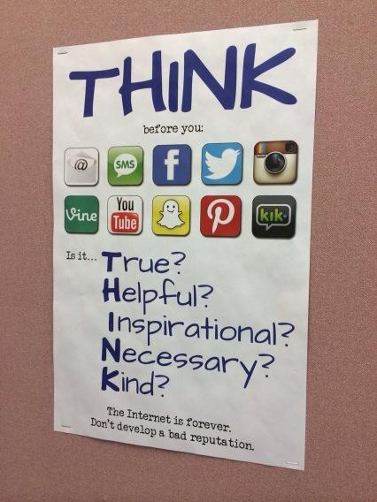 Poster seen in a school, but good advice in general. http://t.co/373iwWuzzU
