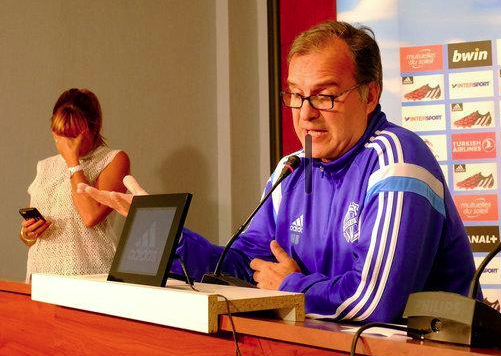 Marseille's press officer cannot hide her dismay
