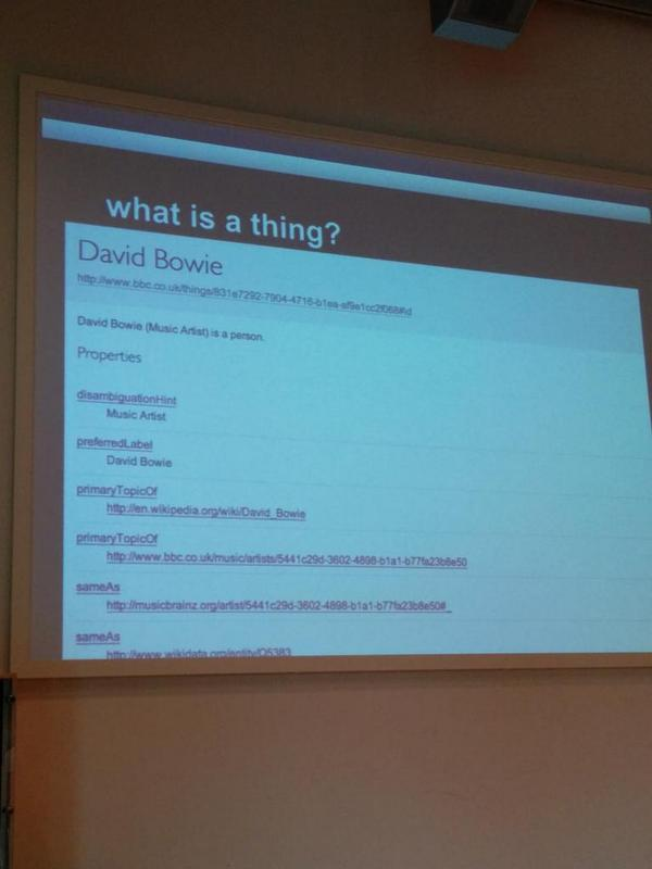 What is a 'thing' in BBC Linked Data Platform - explained by @sofiangeletou at #semantics2014 http://t.co/Pk193O8LRQ