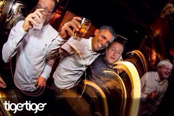 This pic of the lads in Tiger Tiger Cardiff last night, wins today's internet
