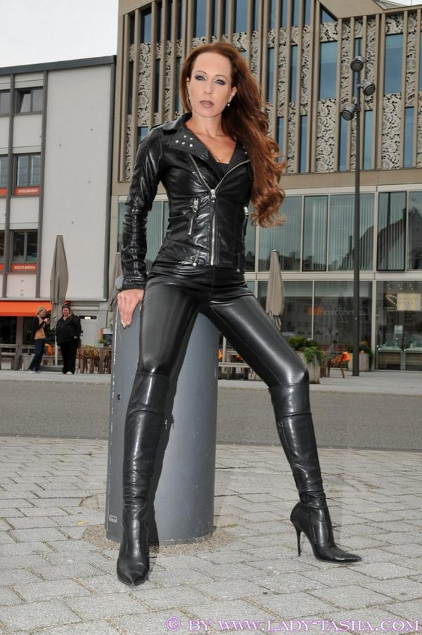 Tight amp shiny leather on twitter quot lady tasha looking fine