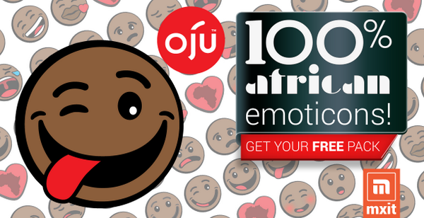 Mxit and @ojuafrica bring you a WORLD FIRST - African emoticons for your phone. Download your free pack on Mxit NOW! http://t.co/u00eYRSKSL