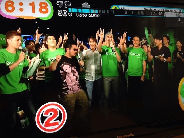 録画しためざましテレビ見てたらXbox oneのニュースで伊織Tシャツ映ってたw http://t.co/nP5fMnd5uc