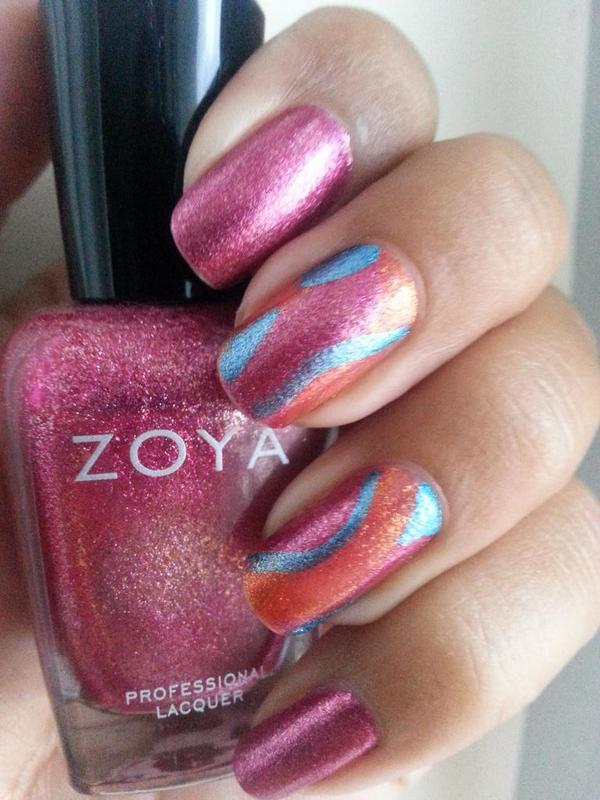 @ZoyaNailPolish this weeks #NailArt with Bobbi a perfect pink. This line of colors is awesome! 2 costsx19 days. http://t.co/p2pD1idL3w