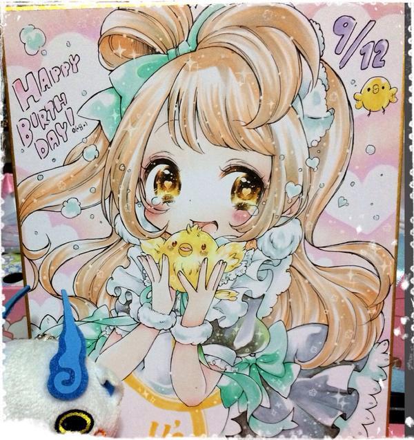コミトレに持って行く色紙出来たー!ことりちゃん♡ もぎゅっとの衣装♡ http://t.co/iAhlvZs7YS