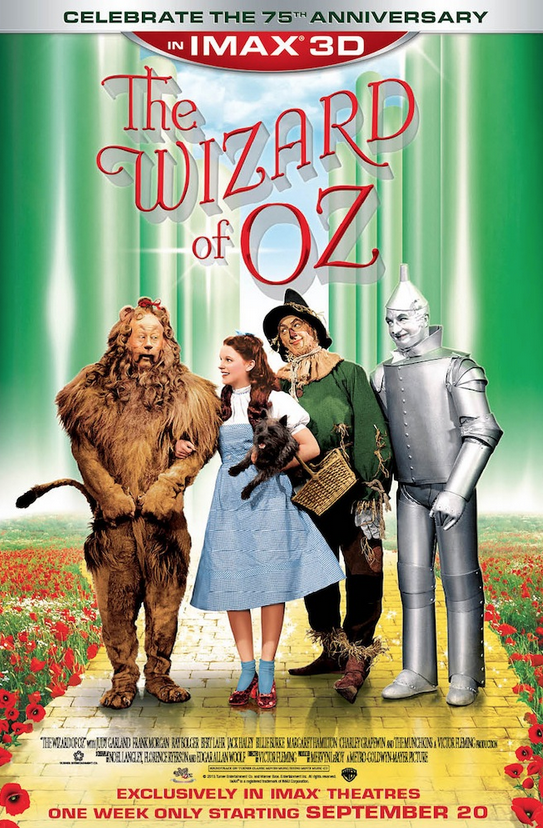 #WizardOfOz in @IMAX - can you really miss that? Starts Sept 20 for ONE WEEK ONLY! #75thAnniversary http://t.co/nDpS4KdYRc