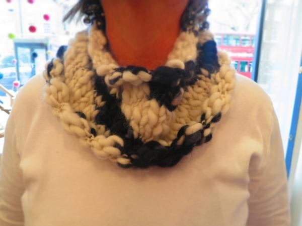 Sheryl's cowl in Colinette Point 5