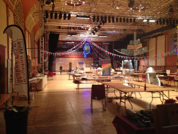 All set for @MakerFaireBTN tomorrow. Goodnight @brightdome. See you at  7o'clock. #BMMF http://t.co/Rfxuuk9lWx
