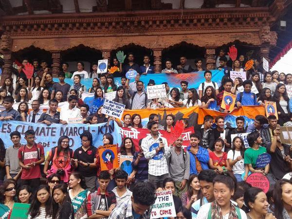 #peoplesclimate march in Kathmandu was unique, no big logos, no celebrity, only real people concerned with #climate http://t.co/emws9waPER