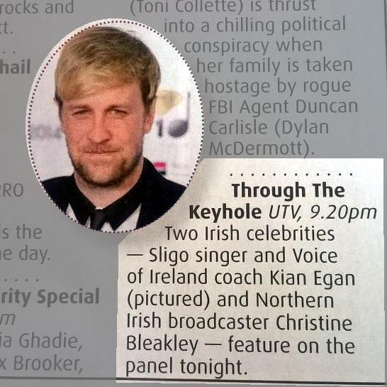 RT @KianEganWebNews: Just to remind you: @ThroughKeyhole  tonight 9.20pm│@ITV  @lemontwittor will be joined by @KianEganWL Who´s watching? …