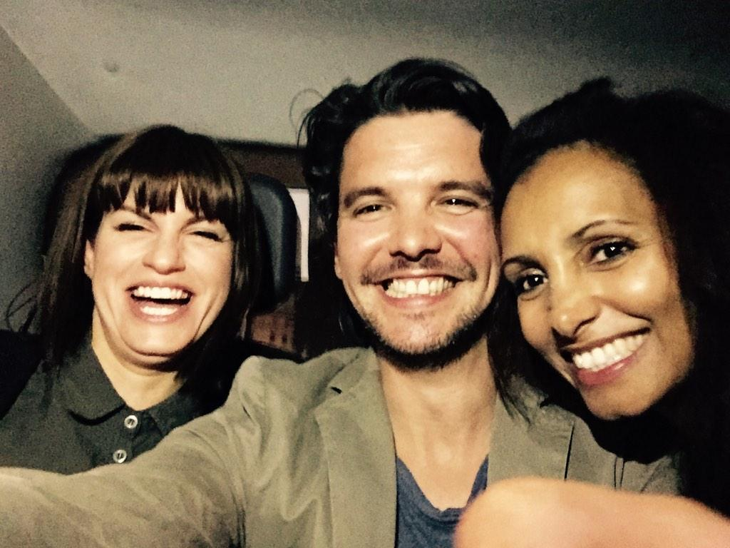 RT @andrewleepotts: Super lovely to see @CaptainPooper & @Angela_Griffin in @BreedersPlay last night.Very funny play.Go see it! (Please). h…