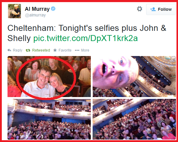 """RT @Heartglos: Did you see @almurray at @Everymanchelt?  Remember the guy who brought his """"cleaner""""? He's on the show next! -TOM http://t.c…"""