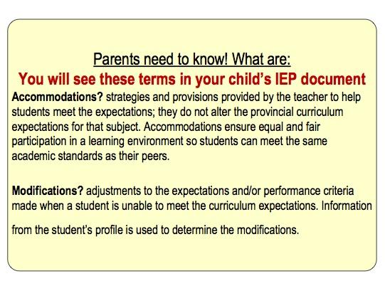 The Difference Between Accommodations And Modifications >> Ontspecialneeds On Twitter Do You Know The Difference Between