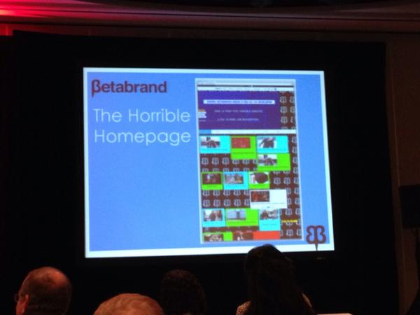 Love this: @Betabrand created an atrocious homepage to attract needed UI/UX talent. #AFHPepsi2014 http://t.co/3dwbO2YH0X