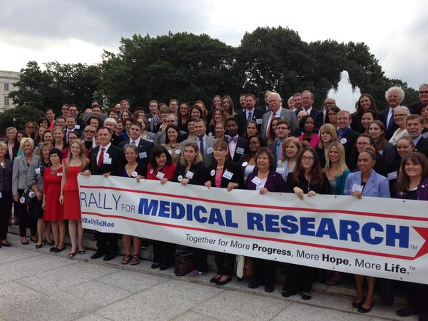 #RallyMedRes kickoff: People from across the country are urging Congress to increase #NIH funding. http://t.co/Qi2GIZzBjX