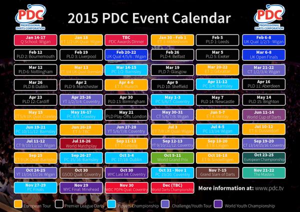 pdc kalender