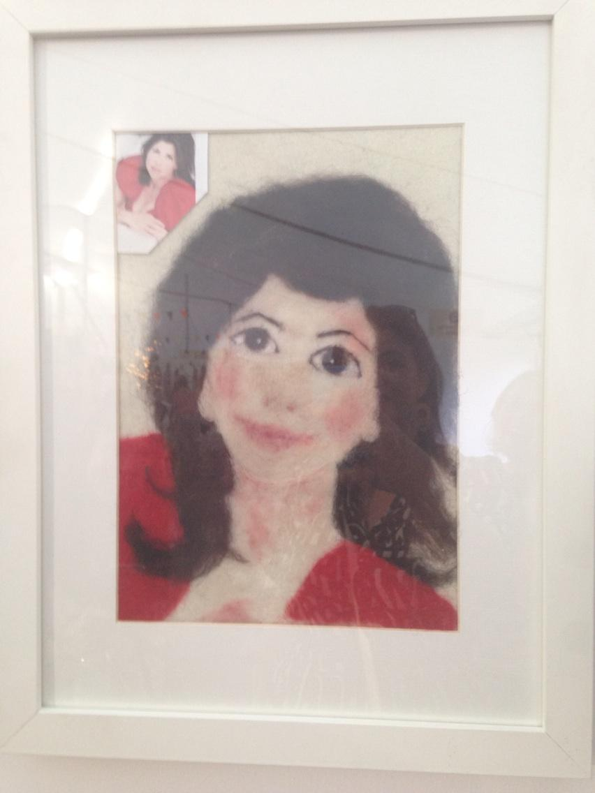 Me, in felt, which is very flattering! @bloomingfelt @HandmadeFair come along and see http://t.co/0tyfjr41vc http://t.co/dJ8mMcwj9t
