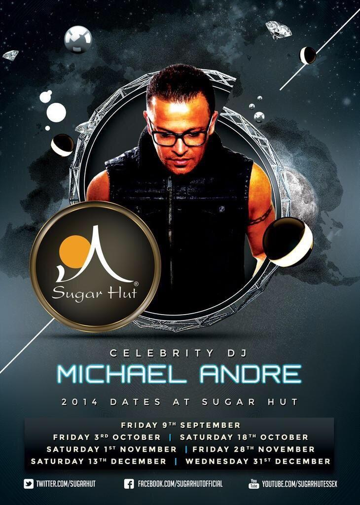After an amazing 2014 at @sugarhut here are the last series of 2014 dates for our good friend @mrmichaelandre http://t.co/qIJfo4zSoQ