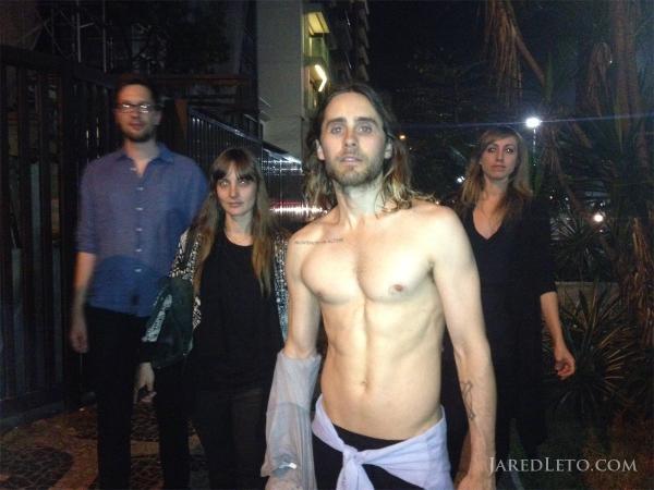 Nude man in braces