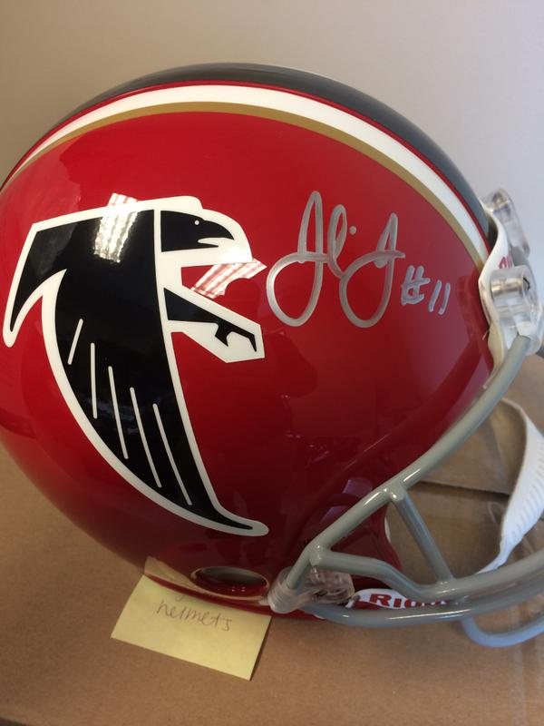 Giving this away tonight! Full sized throwback helmet signed by Julio! Will start contest in 10 mins. http://t.co/H1zxTxeGF9
