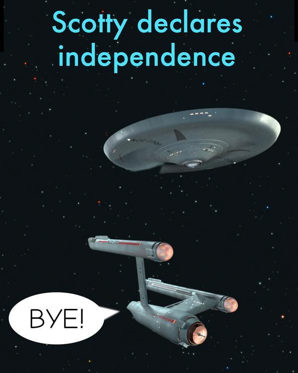 Scotty Declares Independence!  #indyref #ScotlandDecides #scotland http://t.co/4ZjjeBqc2L