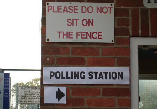 Polling station, in unnamed location in Scotland, for the referendum on Scotland independence.  From @standrewsradio