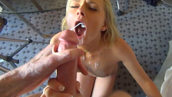 shooting spunk into mouth