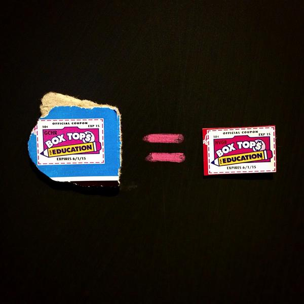 Did you know? A ragged Box Tops clip is worth just as much as a neatly trimmed clip! #btfe #boxtops http://t.co/KitaWrqZPX
