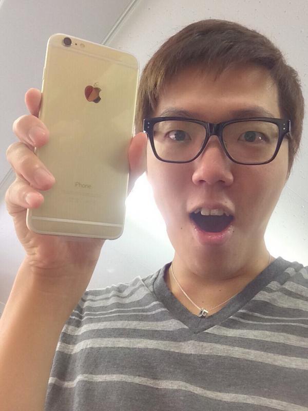 iPhone6 Plusゲット!!!ゴールド!デケェ!\(^o^)/ pic.twitter.com/696z9PWgkB