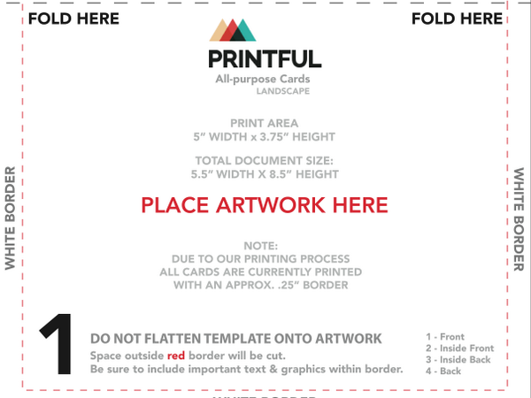Printful On Twitter We Now Offer Free Inside Printing Greeting