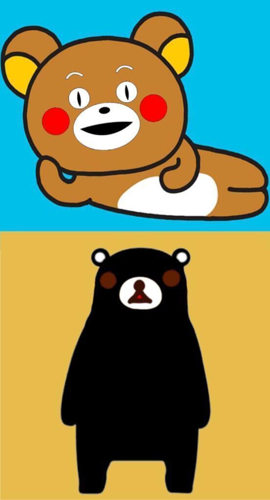 軽い気持ちで描いたら反響があった絵 On Twitter リラックマとくまモン