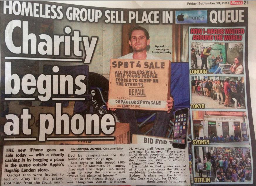 Check out @DepaulUK in @TheSunNewspaper today! #CharityBeginsAtPhone http://t.co/okcMjBviUJ