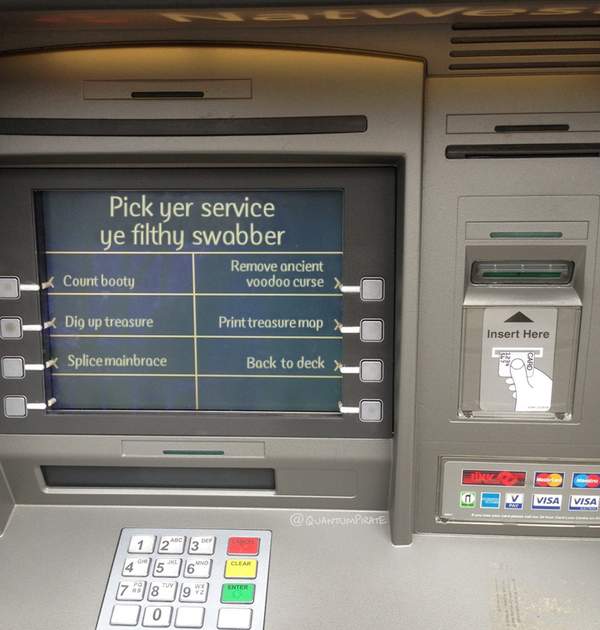 I see Natwest are getting involved in #TalkLikeAPirateDay http://t.co/QgaVAvOiiN
