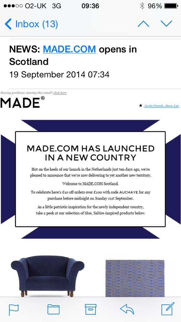 Someone at @madedotcom is getting sacked today. Oh dear. http://t.co/aNqFgv6Spd