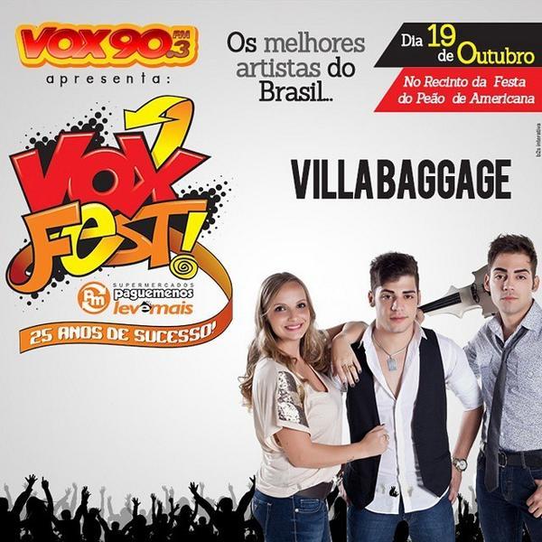 Falta 1 mês para o #VoxFest #PagueMenos e o VillaBaggage já está confirmado. E você já garantiu o seu ingresso? http://t.co/igexYxquWq
