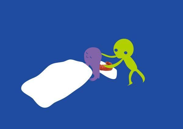 【「私イケメン苦手」とか言ってる女が寝てる時に頭と枕の間にスジコを置いていく宇宙人】