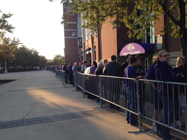 This doesn't begin to show just how long the line is to trade Ray Rice jerseys. Trade rules: http://t.co/jj53VSkax0 http://t.co/IH2BBRNvQC