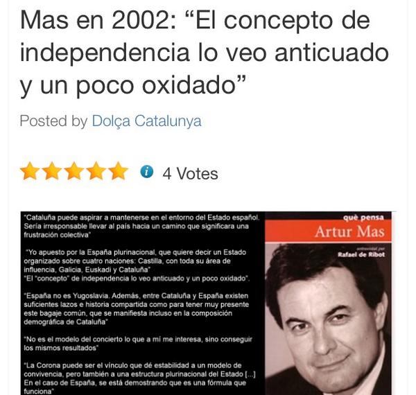 """Artur Mas en 2002, antes de """"la iluminación del Mesías"""" http://t.co/dXipXfXzfh http://t.co/0ITzssx2Tl"""