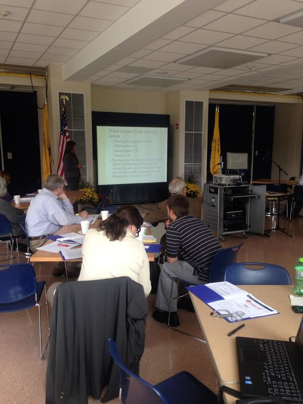 #TCNJ Dr. Liebars engages #math faculty in new #Praxis requirements at #CommonCore convening http://t.co/XPrm5VqtzX