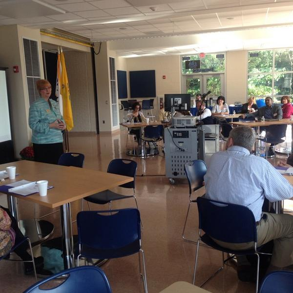 """Dr. Linda Martin - college vp welcomes #math #teachers- """"we count on you to do this good work for our students."""" http://t.co/d8PHe8RKWV"""