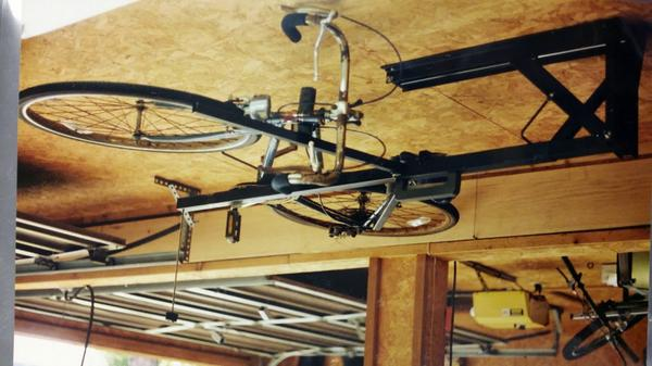 Our #bikes @kickstarter   HOBS-Horizontal Overhead Bike Storage  needs a # bikes tag! )Put your bike on the ceiling!pic.twitter.com/b5id3i4v5E & HOBS (@HOBSbikelift) | Twitter