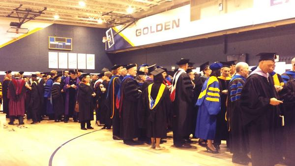 Behind the scenes peak: The @MarquetteU faculty is ready to welcome our #MUPrez!  #loweclass http://t.co/RnXFcTmZQq