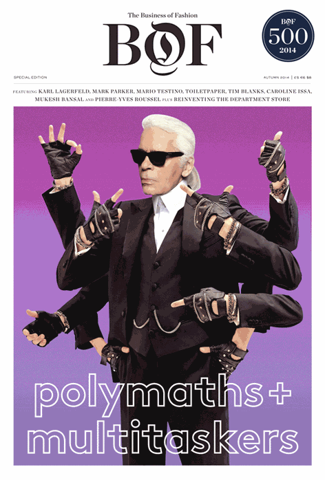 .@KarlLagerfeld gets trippy in this special edition GIF cover for @BoF's new 500 issue: http://t.co/MyXPhA2YF8 http://t.co/umUaLYsZHj